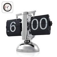 Эксклюзивные механические РЕТРО часы с перелистывающимися цифрами и хромированным корпусом (мод.CL-601)