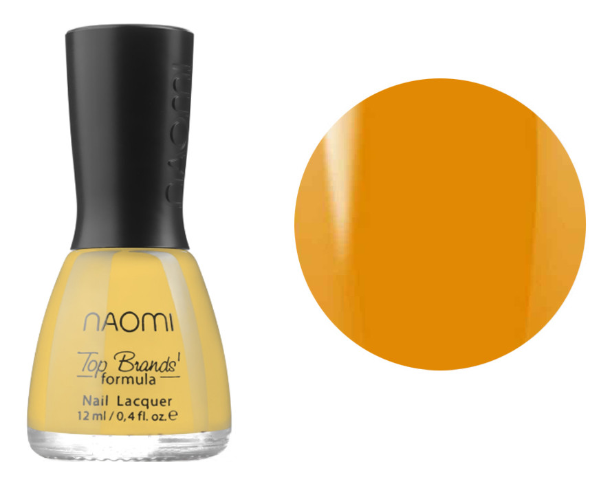 Лак для ногтей №415 Naomi Лимонный кирпичный 12мл
