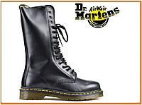 Демисезонные высокие ботинки Dr Martens 1914 Black (Доктор Мартинс 1914, черные) без меха / женские, мужские
