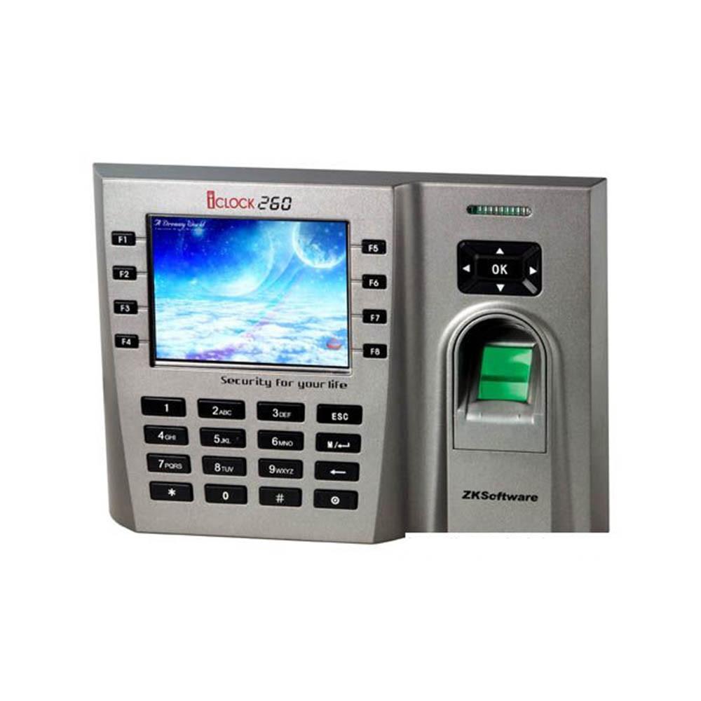 Система учета рабочего времени по отпечатку пальца ZKTeco iClock260