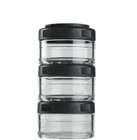 Контейнер спортивный BlenderBottle GoStak 3*60 Black (ORIGINAL)