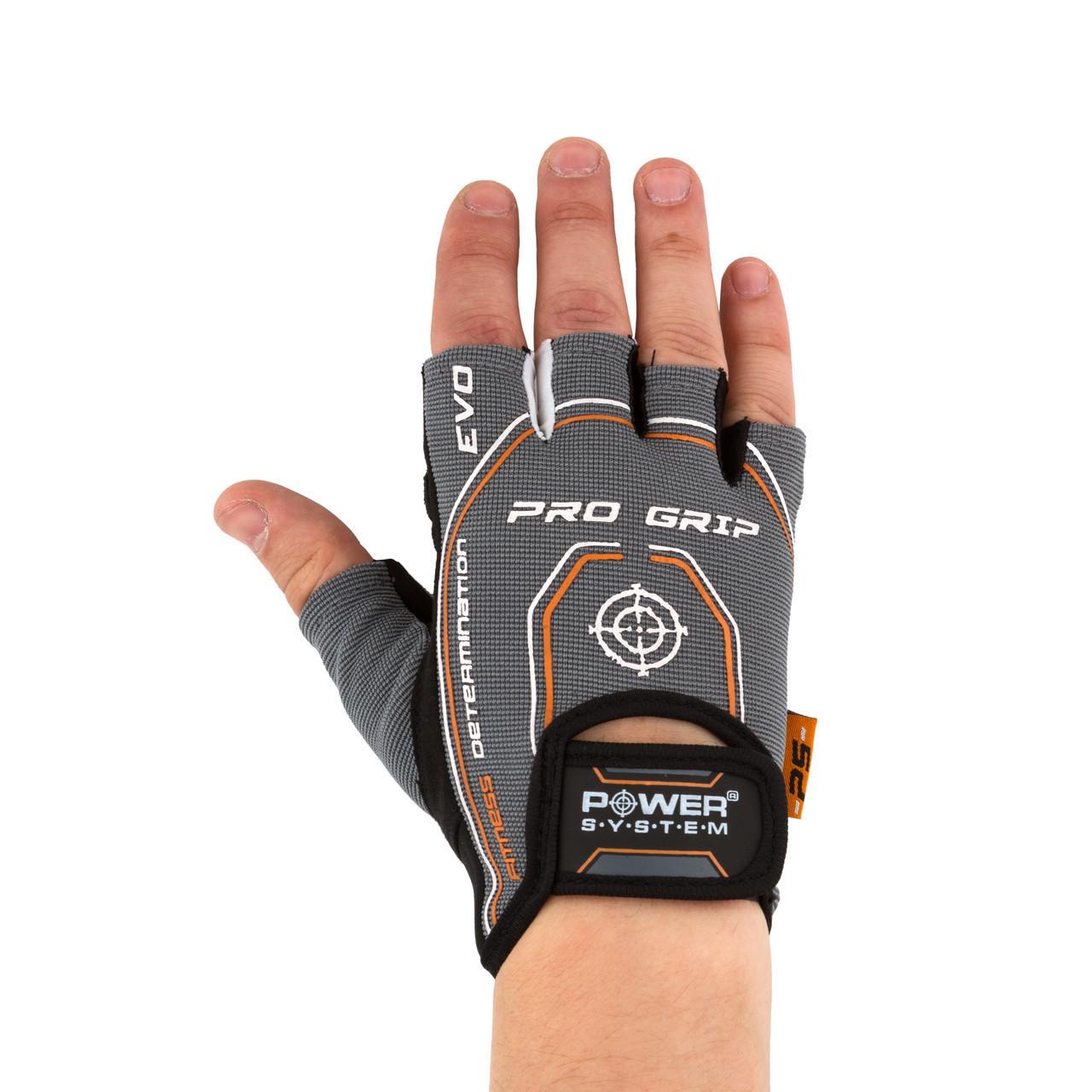 Перчатки для фитнеса и тяжелой атлетики Power System Pro Grip EVO PS-2250E S Grey