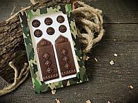 Шоколадные погоны в подарок другу полковнику