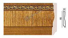 Плінтус підлоговий Арт-Багет 153-4, інтер'єрний декор