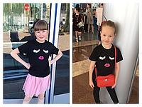 Детская футболка  Lashmakera,чёрная 7-8 лет, фото 1