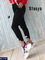 Стильные женские брюки черного цвета 46-48 р-р.