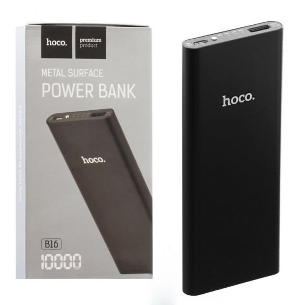Портативный аккумулятор HOCO B16 10000mAh. Цвет - черный 06-B16