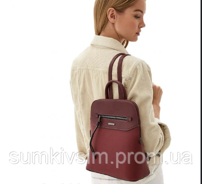 Рюкзак женский бордового цвета DAVID JONES 6110-3
