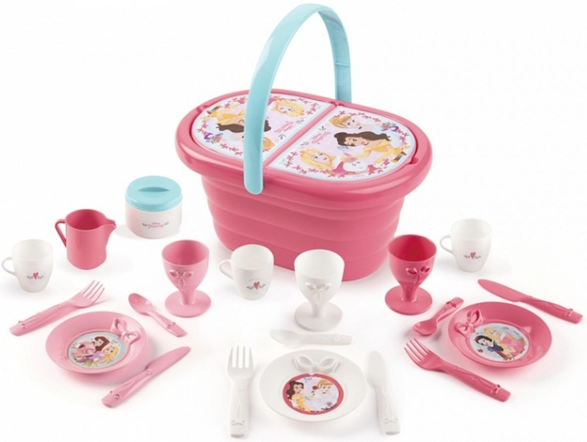 Корзинка с набором посуды для пикника - Disney Princess Smoby 3+ (310573)