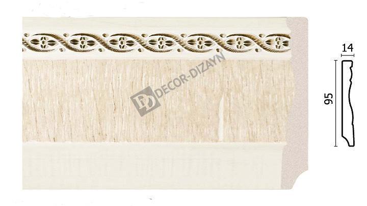 Плинтус напольный Арт-Багет 153-6, интерьерный декор