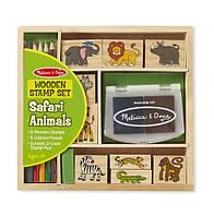 "Набор штампов ""Животные Сафари"", Melissa&Doug"
