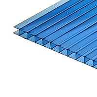 Сотовый синий поликарбонат 6 мм тмPolygal (лист 2,1*6,0 м)
