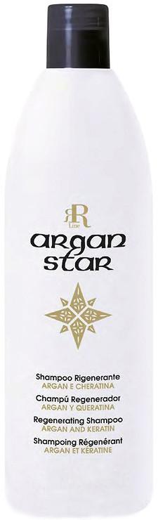 Шампунь для реконструкции волос с маслом арганы и кератином RR Line Argan Star 350 мл