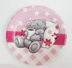 Тарелки Мишка Тедди 10 шт., розовый