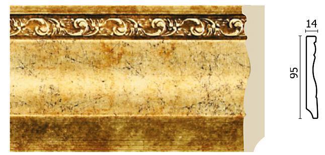 Плинтус напольный Арт-Багет 153-552, интерьерный декор