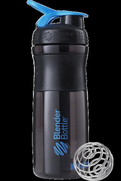 Спортивная бутылка-шейкер BlenderBottle SportMixer 820ml Black/Cyan (ORIGINAL)