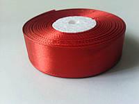 Лента атлас 25мм красная метр