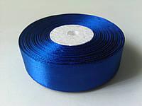 Лента атласная синяя 25 мм бобина 33 м