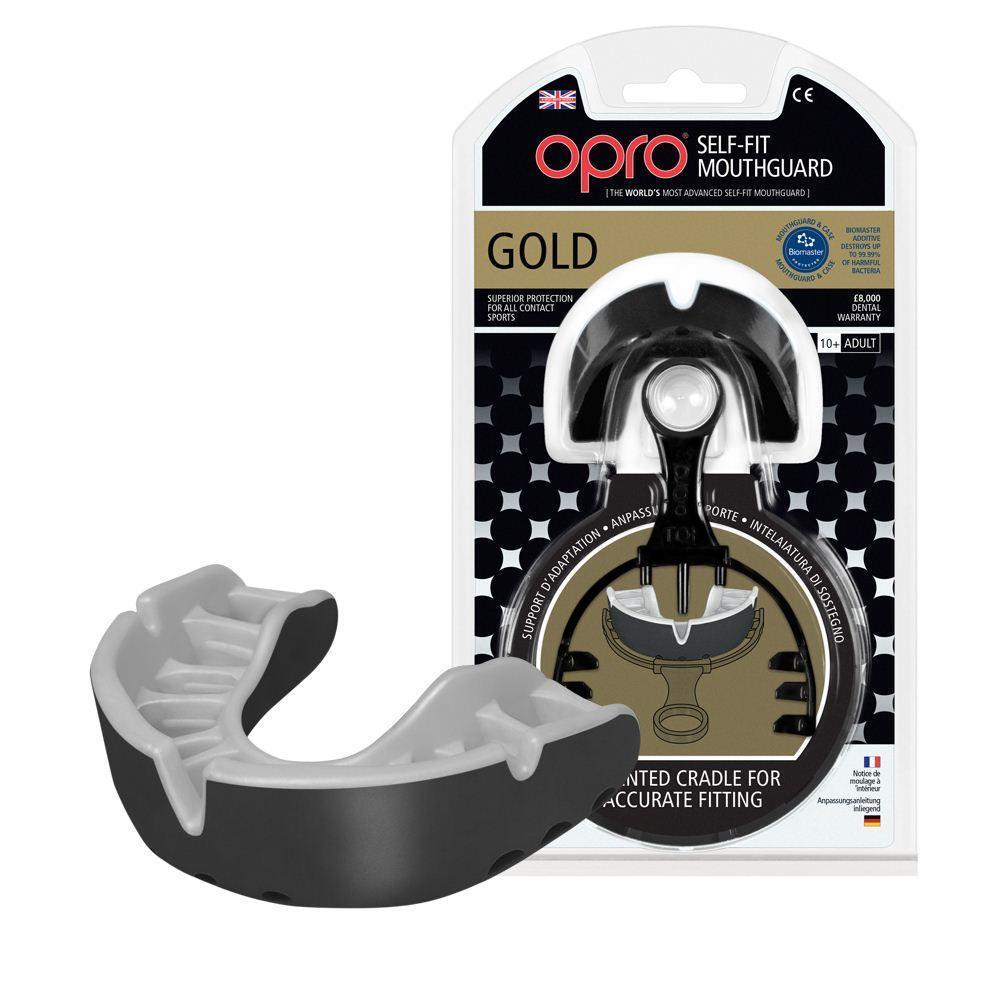 Капа OPRO Gold Series Black/Pearl (art.002193001)