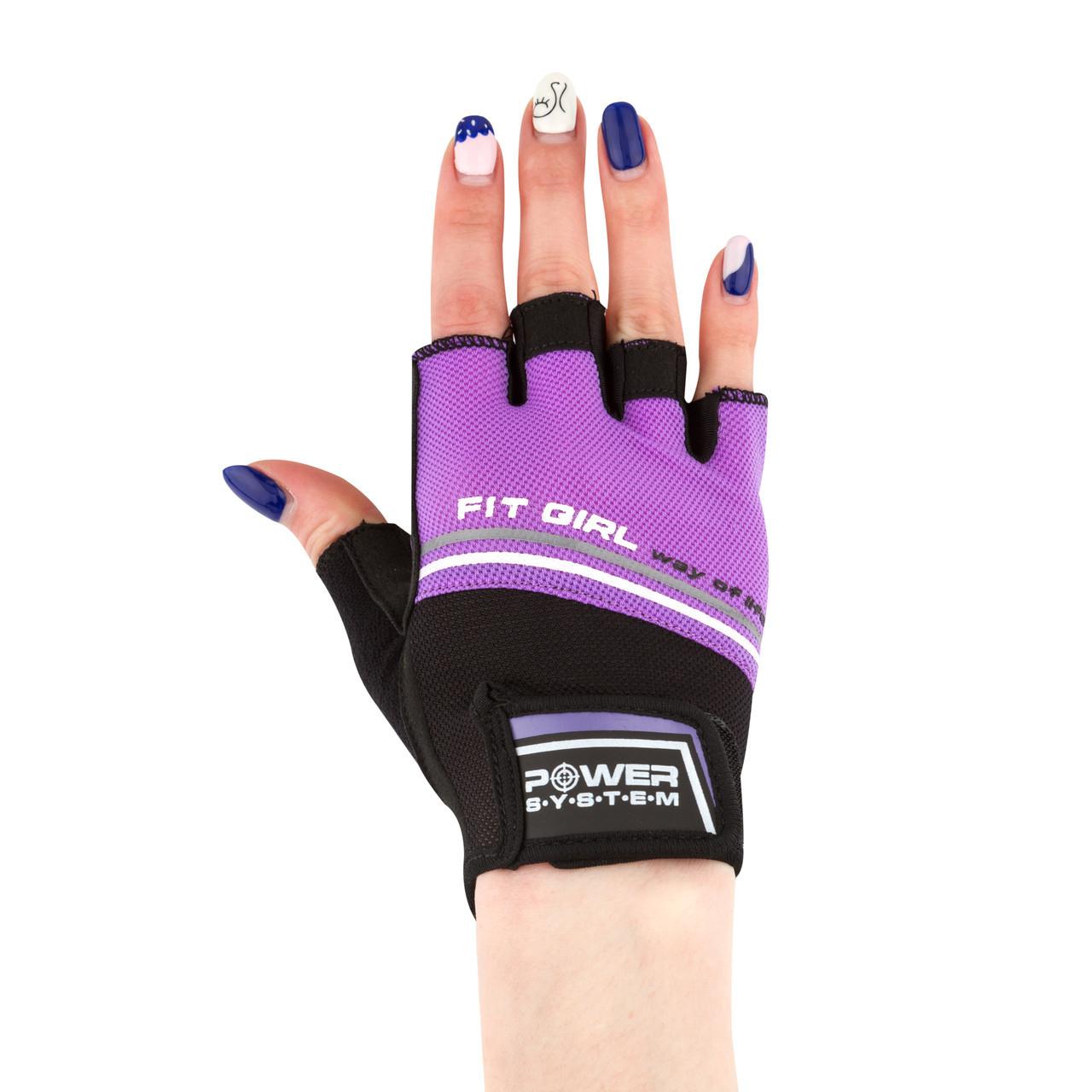 Рукавички для фітнесу і важкої атлетики Power System Fit Girl Evo PS-2920 Purple M