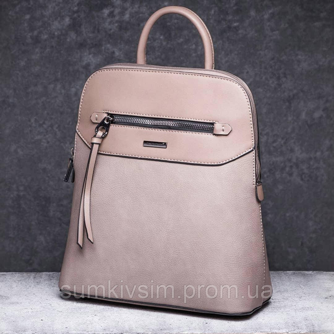 Рюкзак женский бежевого цвета DAVID JONES 6110-3