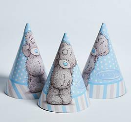 Колпачки  Мишка Тедди 10 шт., голубые