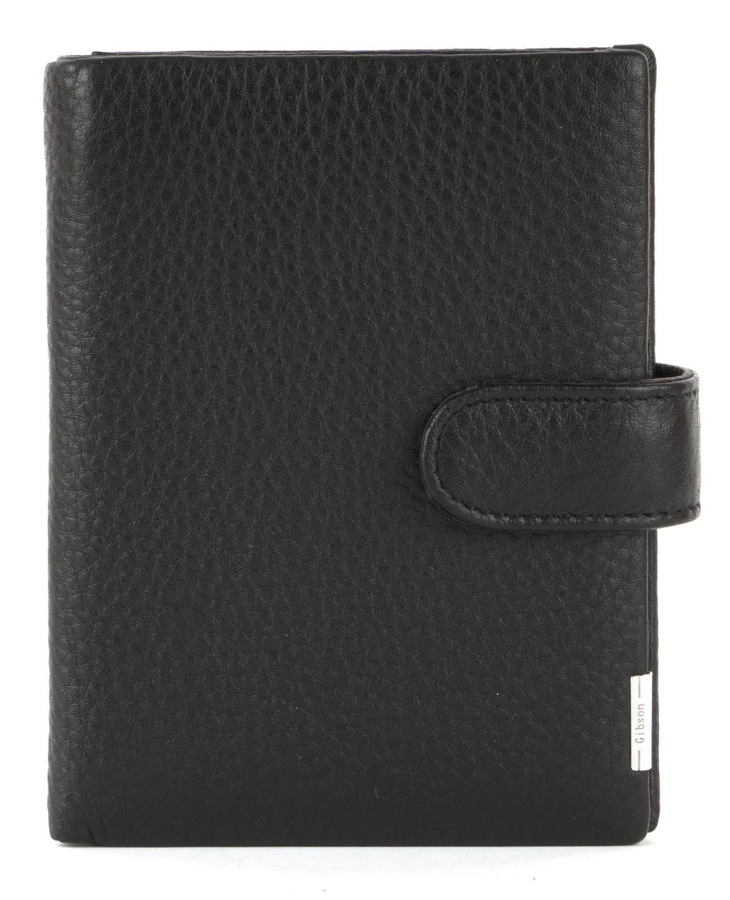 Кожаный мужской прочный кошелек GIBSON art. M302B-ZS033-N-1 черный
