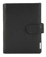 Кожаный мужской прочный кошелек GIBSON art. M302B-ZS033-N-1 черный, фото 1