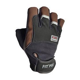 Перчатки для тяжелой атлетики Power System X1 Pro FP-01 Black/Brown XXL