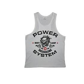 Майка для фитнеса и бодибилдинга Power System PS-8000 Boot Camp White XL