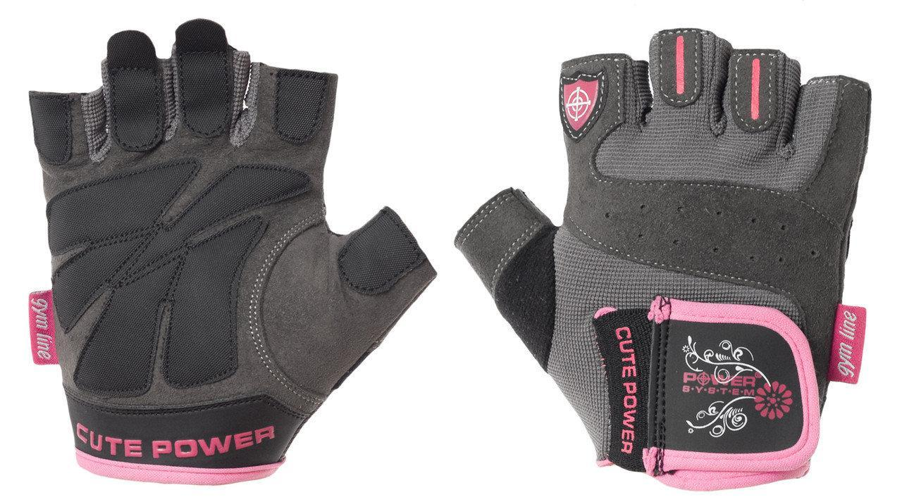Перчатки для фитнеса и тяжелой атлетики Power System Cute Power PS-2560 женские Pink XL