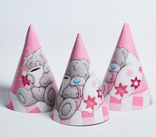 Колпачки  Мишка Тедди 10 шт., розовые