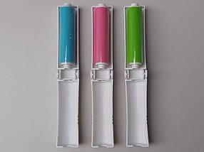 Ролик-липучка многоразовый моющийся для чистки одежды, розового цвета., фото 2