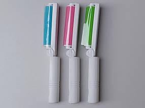 Ролик-липучка многоразовый моющийся для чистки одежды, розового цвета., фото 3