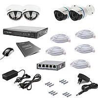 Комплект IP видеонаблюдения Tecsar IP 4OUT LUX MIX, фото 1