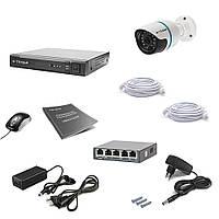 Комплект IP видеонаблюдения Tecsar IP 1OUT LUX, фото 1