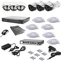 Комплект IP видеонаблюдения Tecsar IP 6OUT LUX MIX, фото 1