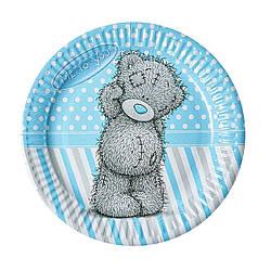 Тарелки Мишка Тедди 10 шт., голубой