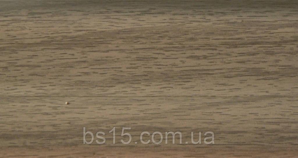 Плинтус с кабель  каналом и мягким краем BS17 Серый Дуб, фото 1