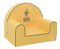Мягкое детское кресло «Be the boss», желтый