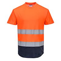 Двухцветная сетчатая футболка C395