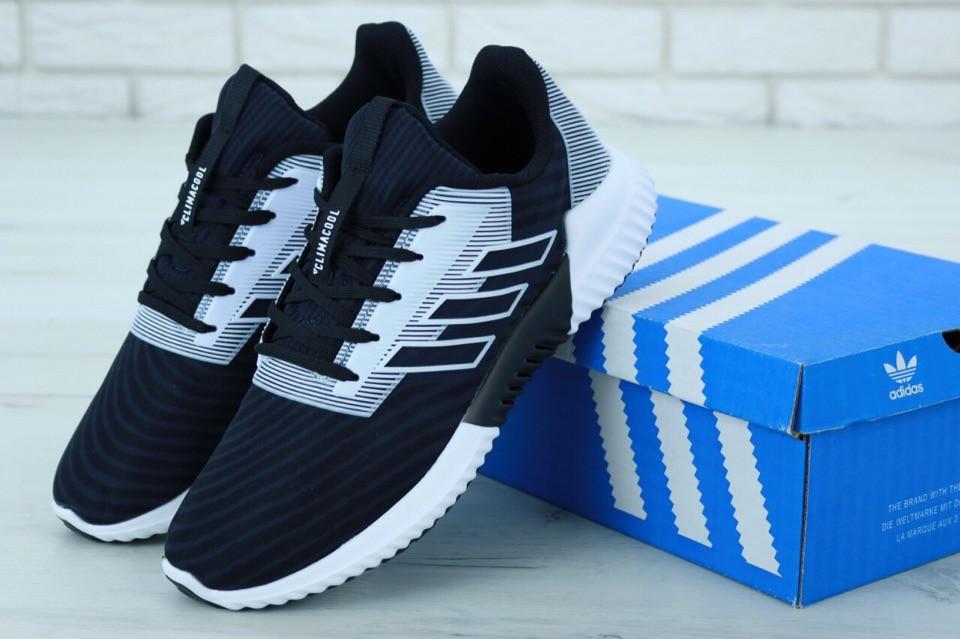 Мужские кроссовки Adidas ClimaCool Blue White. ТОП Реплика ААА класса.