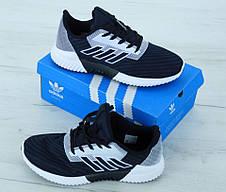 Мужские кроссовки Adidas ClimaCool Blue White. ТОП Реплика ААА класса., фото 3