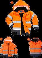 Светоотражающая контрастная куртка-бомбер C465