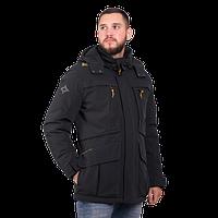 Мужская демисезонная куртка Camel Active 420194-09 удлиненная чёрная цвета
