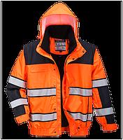 Классическая светоотражающая куртка-бомбер C466