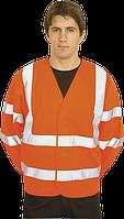 Светоотражающая куртка C473 оранжевая LXL