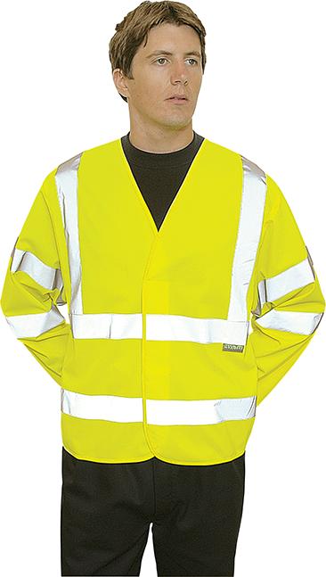 Светоотражающая куртка C473 Желтая
