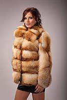 Куртка из натуральной рыжей степной лисы