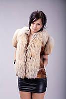 Куртка/жилет из аукционной рыжей лисы